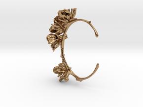 Cherry Blossom Bracelet in Polished Brass: Medium