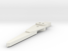 Lengendary Voltron Large Wing Shield Coupler in White Natural Versatile Plastic