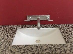 Bathroom sink, under-counter, 1:12 in White Processed Versatile Plastic