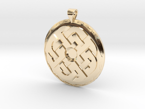 Celtic Knot 1 Pendant in 14k Gold Plated Brass