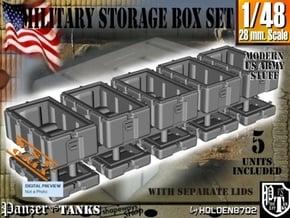 1-48 Military Storage Box Set in White Processed Versatile Plastic