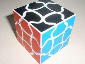 Fluffy Cube in White Natural Versatile Plastic