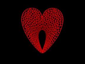 Love (L) in Red Processed Versatile Plastic