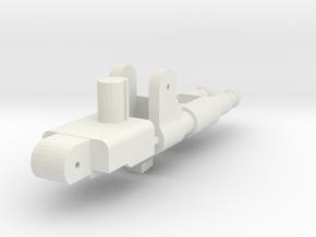Gunmaster #2, Long-Barrel Kit, 5mm handle in White Natural Versatile Plastic