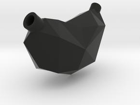Vostok pendant #1 in Black Natural Versatile Plastic