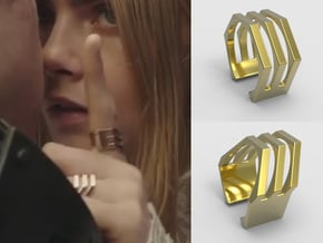 Laureline Valerian Ring 1 in 18k Gold Plated Brass: 8 / 56.75