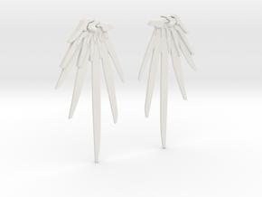 Overwatch - Mercy Wing Earrings in White Natural Versatile Plastic