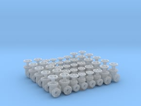 """40 Valves (various designs) For 1.6mm (1/16"""") Rod in Smooth Fine Detail Plastic"""
