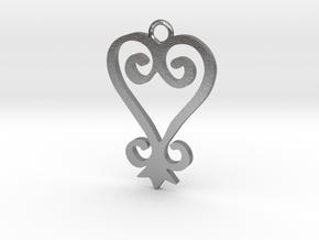 Sankofa Pendant in Natural Silver