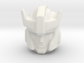 Prowl Head 18 mm with neck in White Natural Versatile Plastic