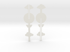 Cake Topper - Clouds & Balloon #1 in White Natural Versatile Plastic
