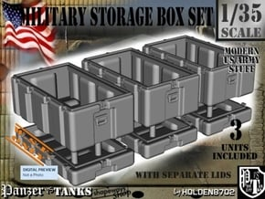 1-35 Military Storage Box Set in White Processed Versatile Plastic
