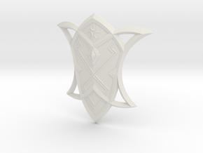 """BotW"" Silver Shield in White Natural Versatile Plastic: 1:12"