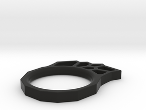 Sponge ring in Black Natural Versatile Plastic