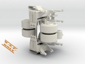 1-32 Bogie M4 Hvy Duty PAIR in White Natural Versatile Plastic