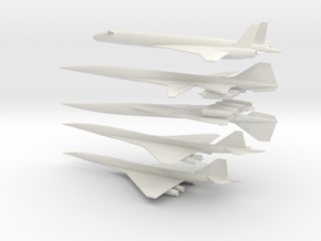 1/400 BOEING/NASA SUPERSONIC TRANSPORTS SST HSCT in White Natural Versatile Plastic