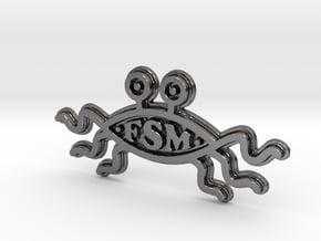 FSM - Logo - 50mm in Polished Nickel Steel