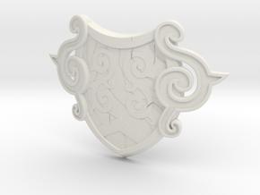 """BotW"" Forest Dweller's Shield in White Natural Versatile Plastic: 1:12"