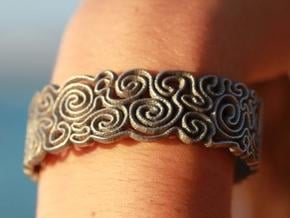scribble Medium in Polished Bronzed Silver Steel