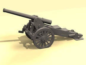 1/160 De Bange cannon 155mm in Smooth Fine Detail Plastic