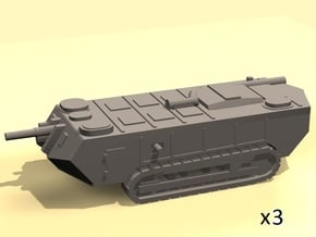 1/220 Saint-Chamond tanks (early) x3 in Smooth Fine Detail Plastic