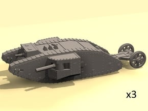 1/220 Mark I Male tank in Smooth Fine Detail Plastic