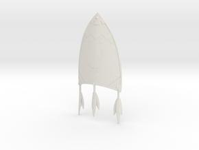 """""""BotW"""" Kite Shield in White Natural Versatile Plastic: 1:12"""