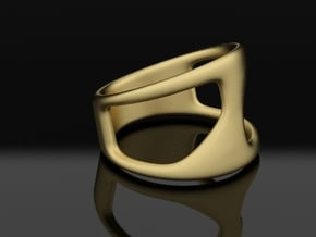 ring ||| K ||| SERIES in Natural Brass