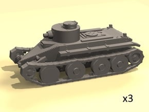 1/144 Christie T3 tank in Smooth Fine Detail Plastic