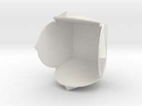 Geometry style in White Natural Versatile Plastic: Extra Small