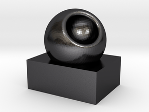 3 in Polished and Bronzed Black Steel: Small