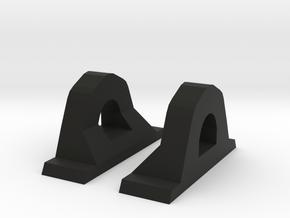 Micro Fan Side Mounts in Black Natural Versatile Plastic