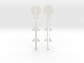 Cake Topper - Clouds & Balloon #2 in White Natural Versatile Plastic