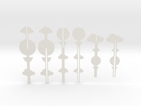 Cake Topper - Clouds & Balloon series in White Natural Versatile Plastic