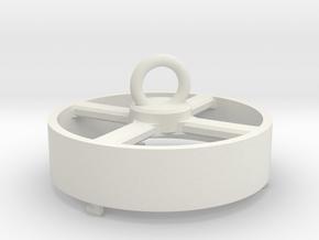 tube sponge-top in White Natural Versatile Plastic: Small