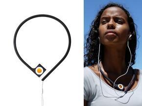 Pod à porter - neckband for iPod shuffle in White Natural Versatile Plastic