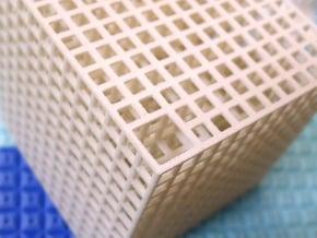Maze 01, 6x6x6, 'Cube H' in White Natural Versatile Plastic