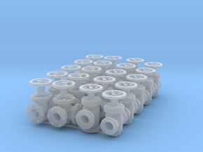 """20 Valves (various designs) for 2.4mm (3/32"""") Rod in Smooth Fine Detail Plastic"""