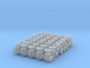 """40 Valves (various designs) for 2.4mm (3/32"""") Rod in Smooth Fine Detail Plastic"""