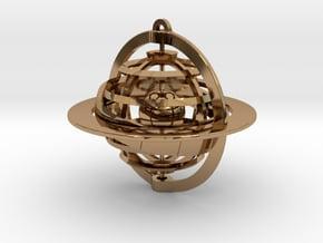 Celestial Globe in Polished Brass (Interlocking Parts)