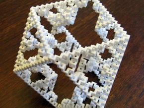 Cuboctahedral fractal graph in White Natural Versatile Plastic