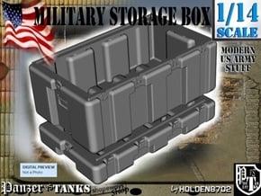 1-14 Military Storage Box in White Processed Versatile Plastic