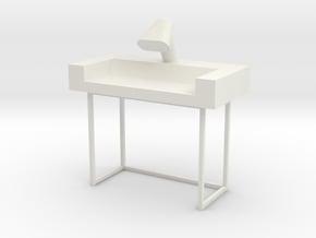 Main Mission Desk Type 1 S1  (Space: 1999), 1/30 in White Natural Versatile Plastic