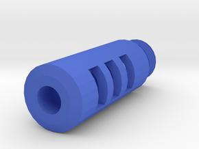 Combat Action Airsoft Flash Compensator (14mm Self in Blue Processed Versatile Plastic
