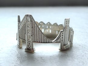 SanFrancisco Skyline - Cityscape Ring in Polished Silver: 9 / 59