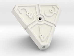 Vertex Dice RPG Set and Singles in White Natural Versatile Plastic: d4