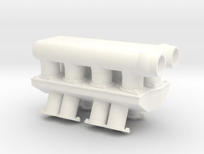 Brodix 1/12 509 Turbo Intake 2 in White Processed Versatile Plastic