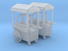 Food Cart 01. 1:120 scale  in Smooth Fine Detail Plastic
