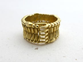 Cell Membrane Ring - Science Jewelry in Polished Brass: 7.5 / 55.5