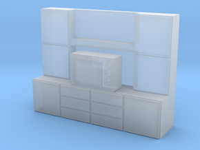 N Scale Television Cabinet in Smooth Fine Detail Plastic